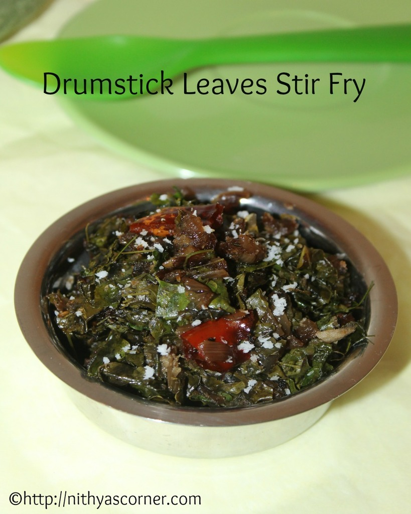 how to make drumstick leaves stir fry recipe