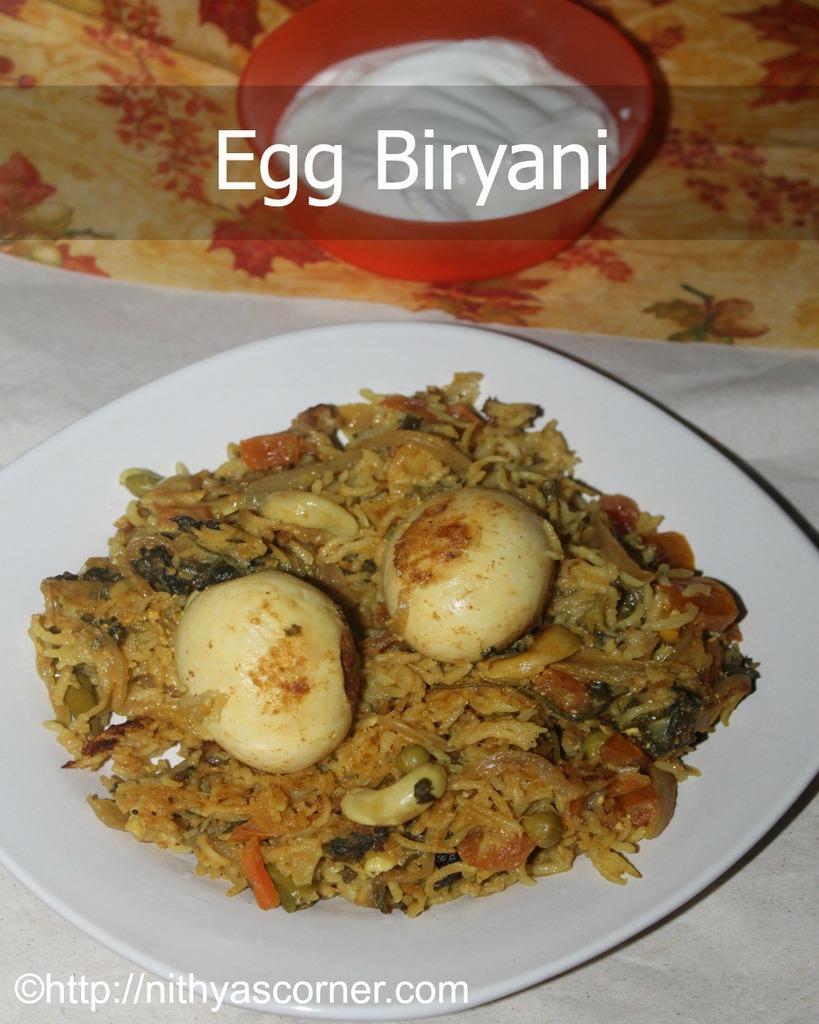 Egg Biryani Recipe, Muttai Biryani