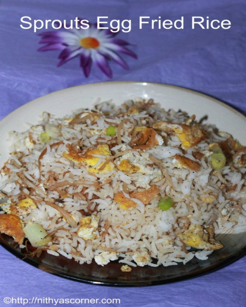 Egg sprouts fried rice recipe