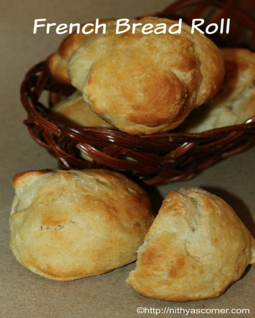 simple and easy french bread roll recipe