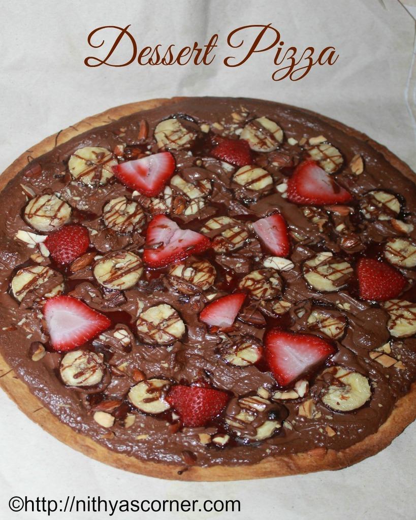 chocolate pizza, nutella dessert pizza
