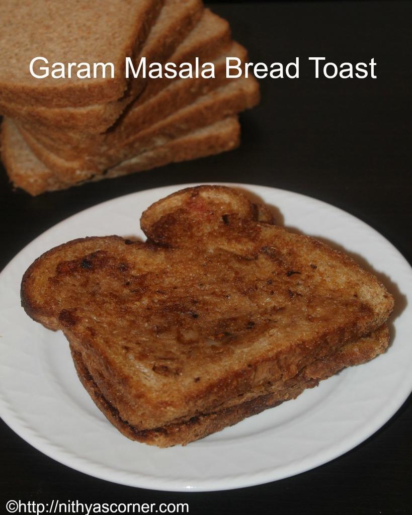 garam masala toast recipe