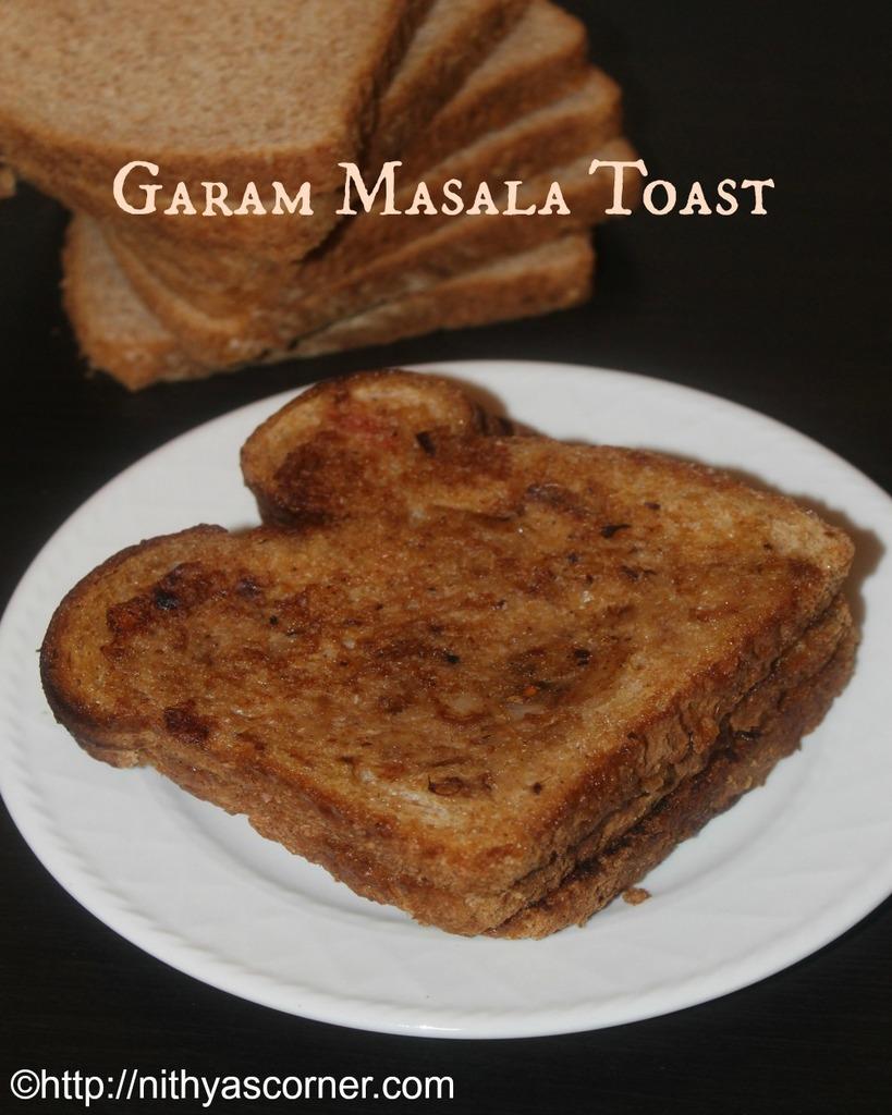 Garam masala bread toast