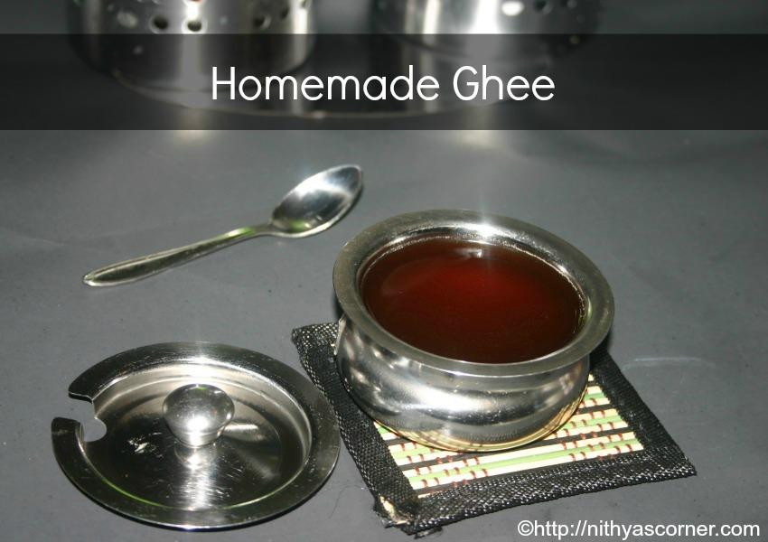 Homemade ghee from butter recipe