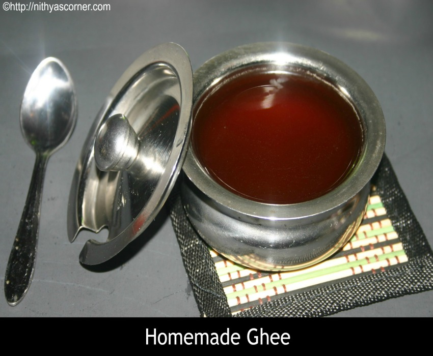 Ghee recipe, How to make indian clarified butter at home