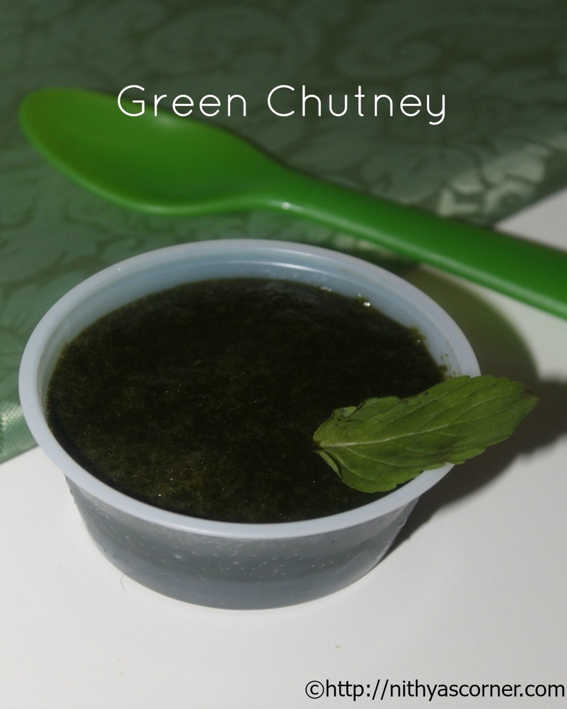 green chutney for chaat recipes