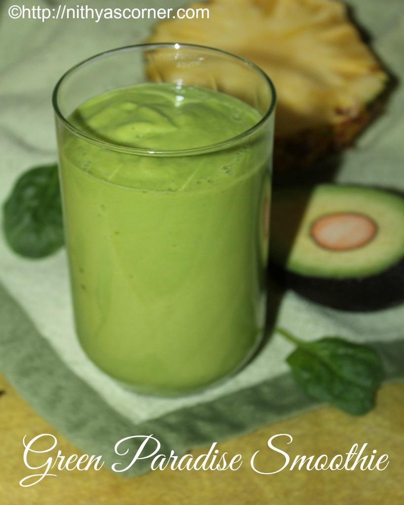 Green paradise smoothie recipe