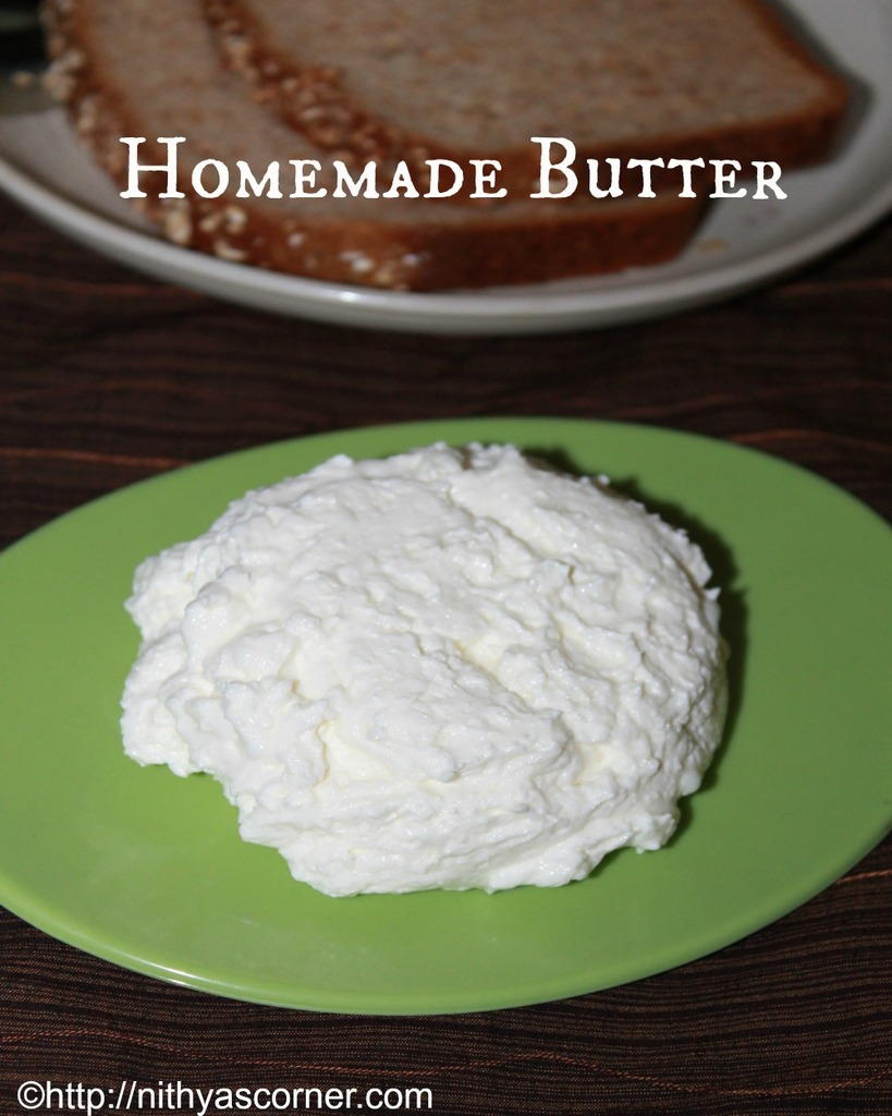 Homemade Butter and Buttermilk recipe