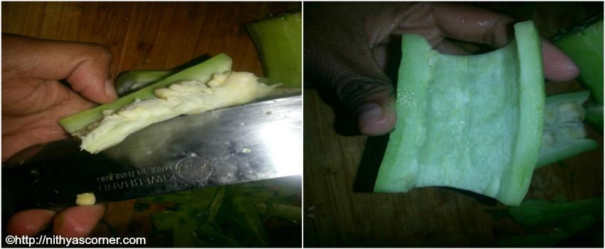how to cut and chop pudalangai