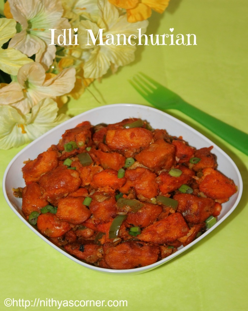 how to prepare idli manchurian
