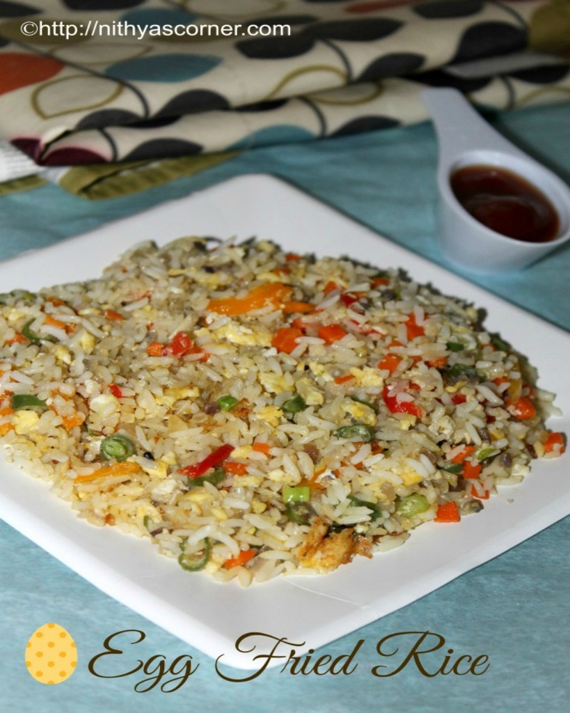 Spicy egg fried rice recipe