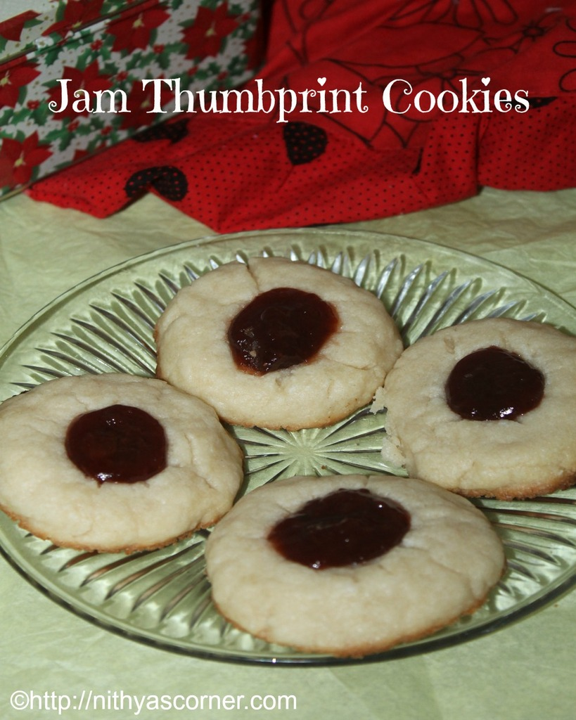 How to make jam thumbprint cookies