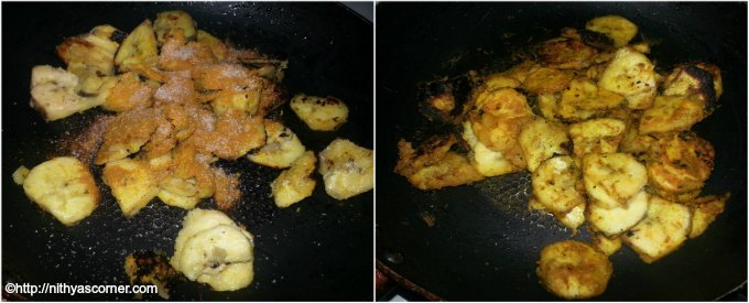 how to make kacche kele ki sabzi