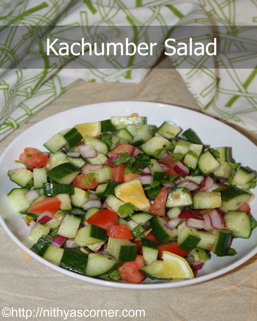 Kachumber Salad Recipe, Indian Cucumber Salad