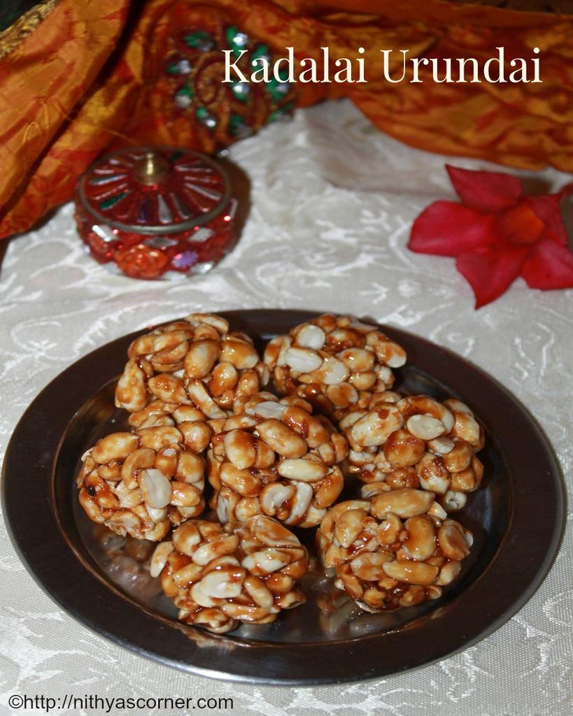 Kadalai urundai recipe, peanut chikki, kadalai mittai