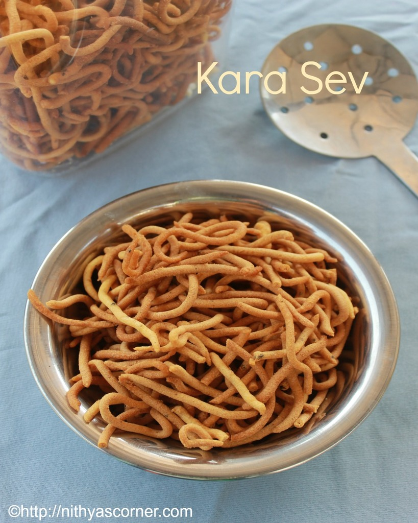 Kara sev recipe, karasev recipe