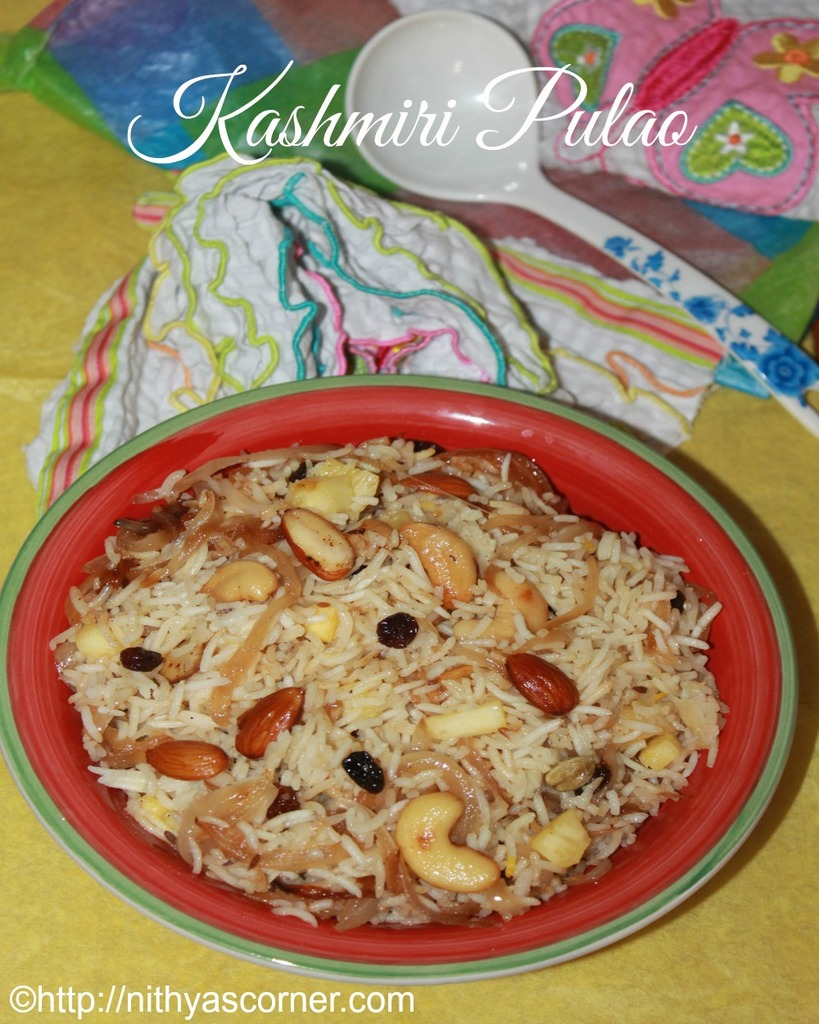 Kashmiri Pulao Restaurant Style