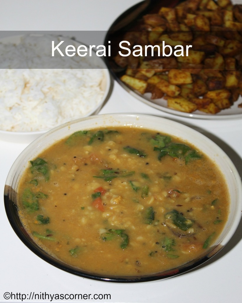how to make keerai sambar recipe
