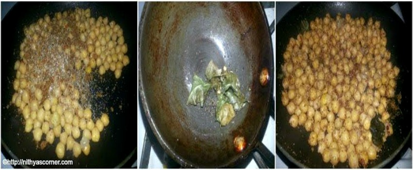 chickpeas sundal with stepwise pictures