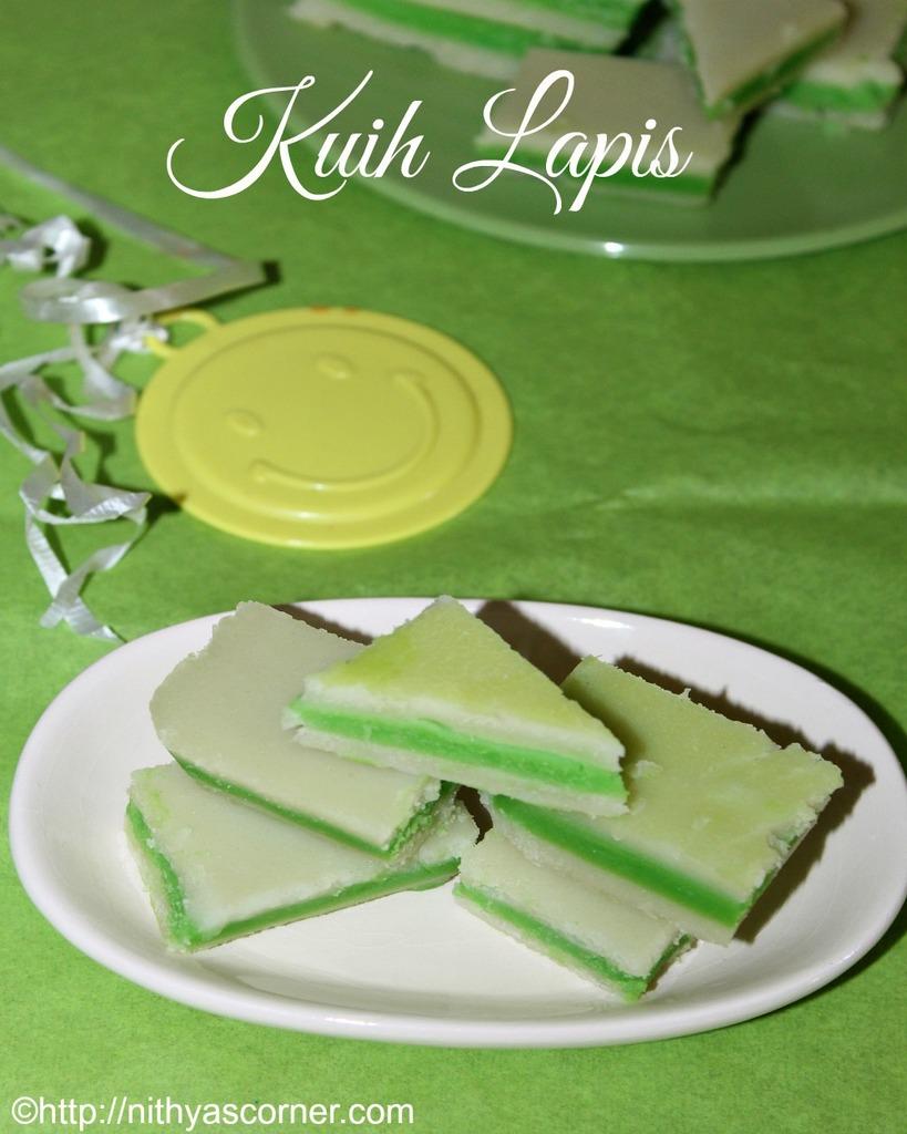 Kuih lapis recipe, Steamed layer cake