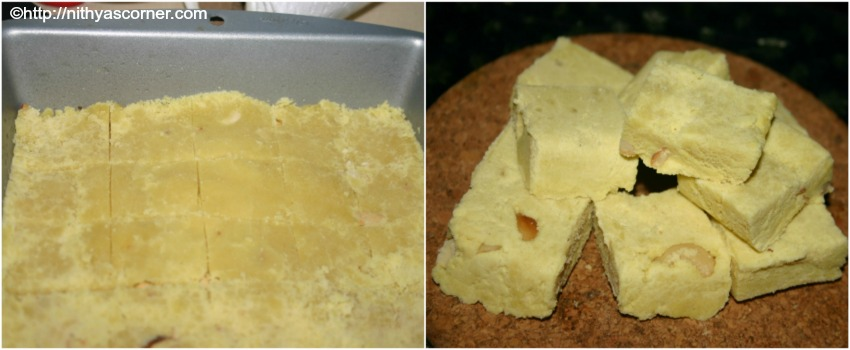 maida burfi with step by step pictures