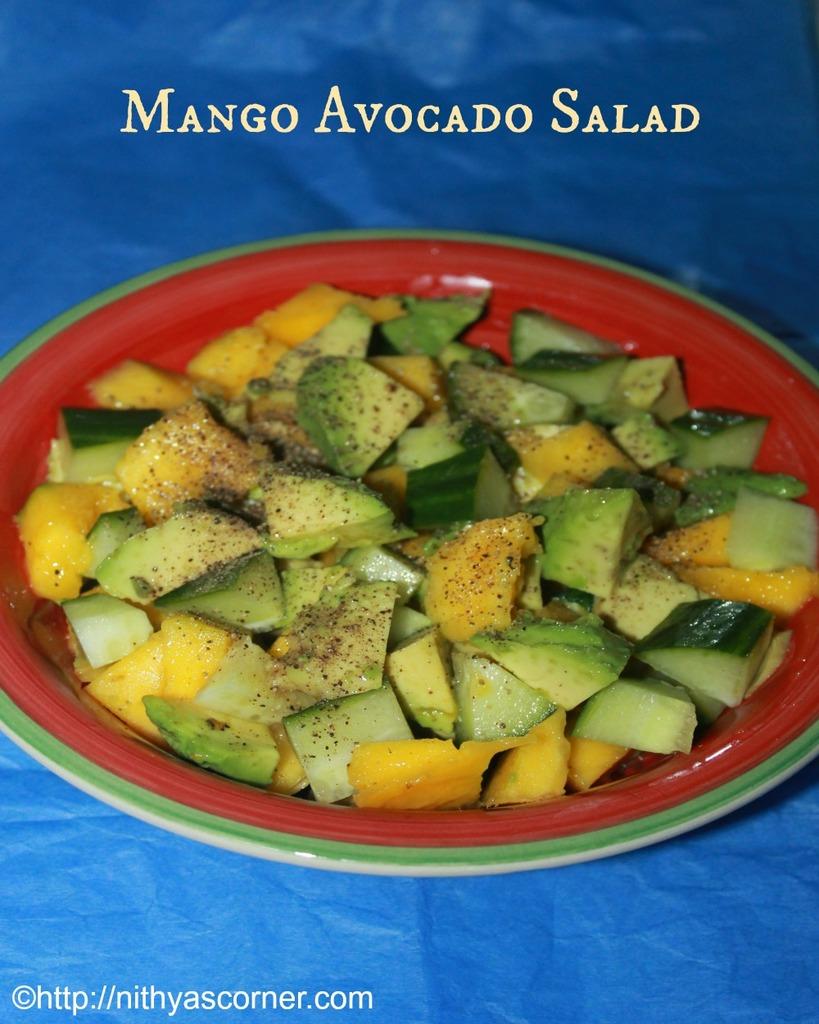 Mango Avocado Salad, Mango and Avocado Salad Recipe