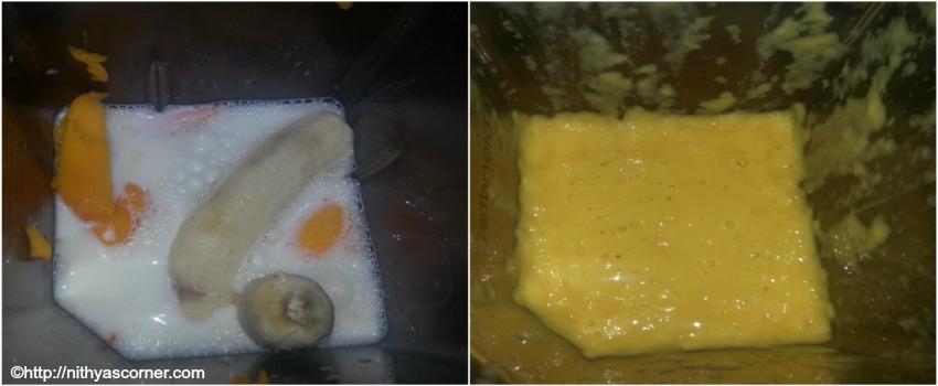Mango Banana Milkshake Recipe