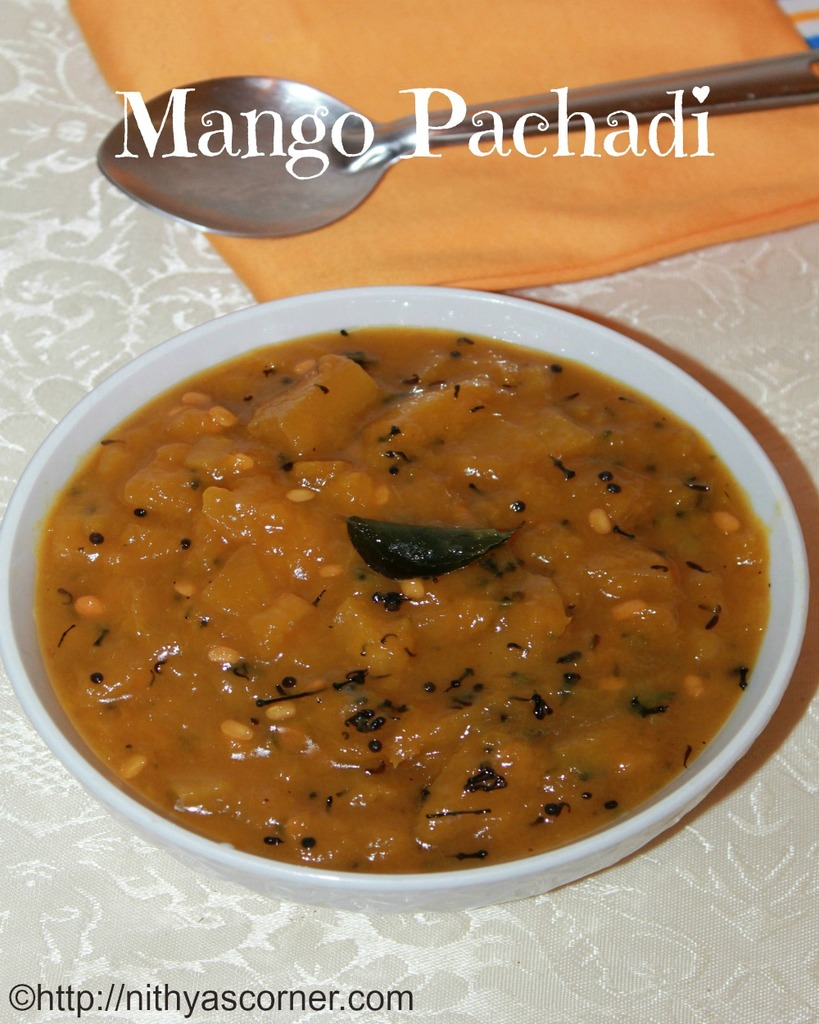 Mango Pachadi Recipe, Maanga Pachadi