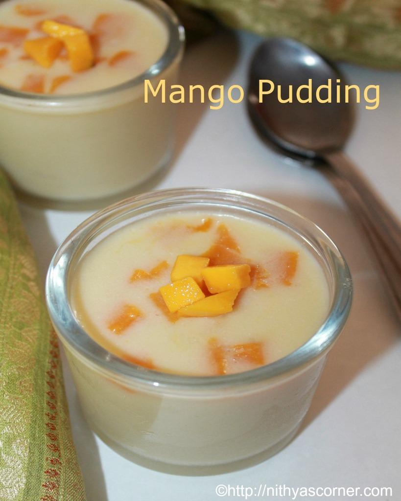 Mango pudding recipe