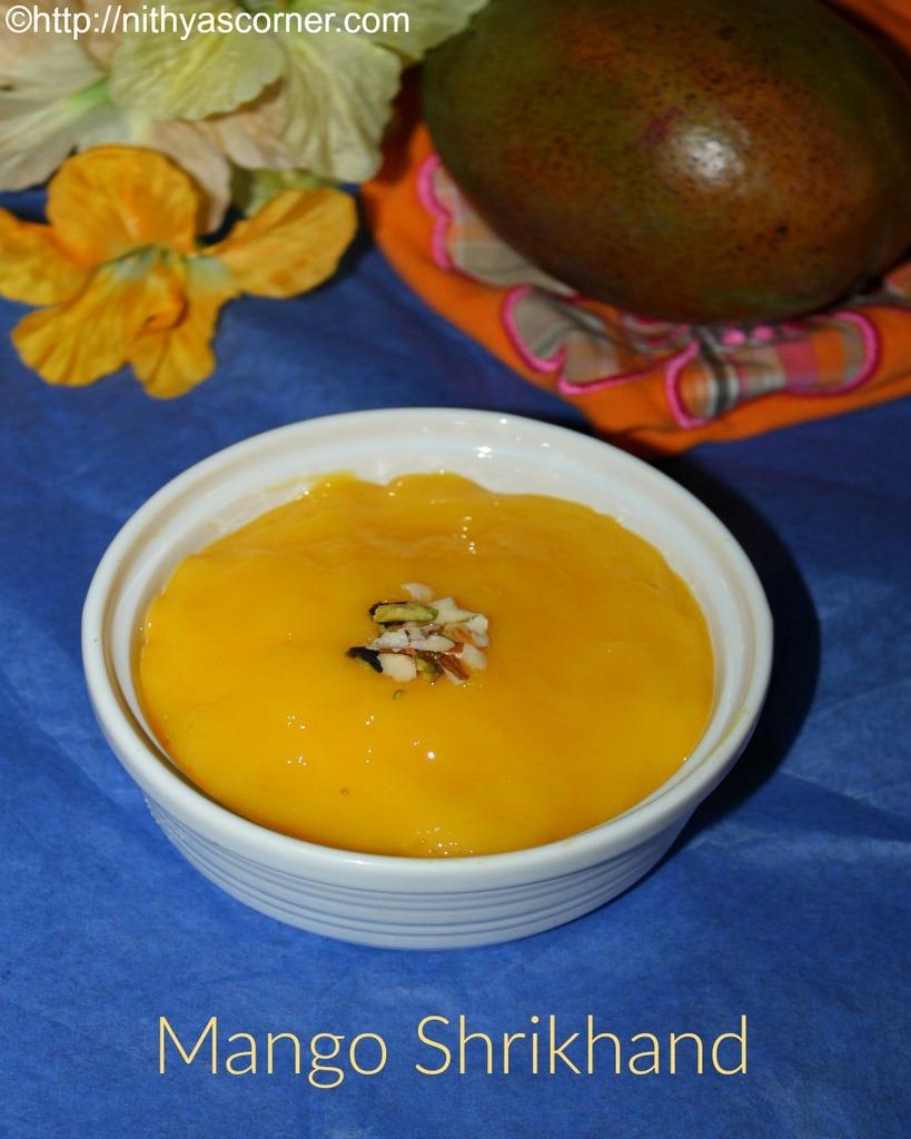 mango shrikhand or amrakhand recipe with step by step photos
