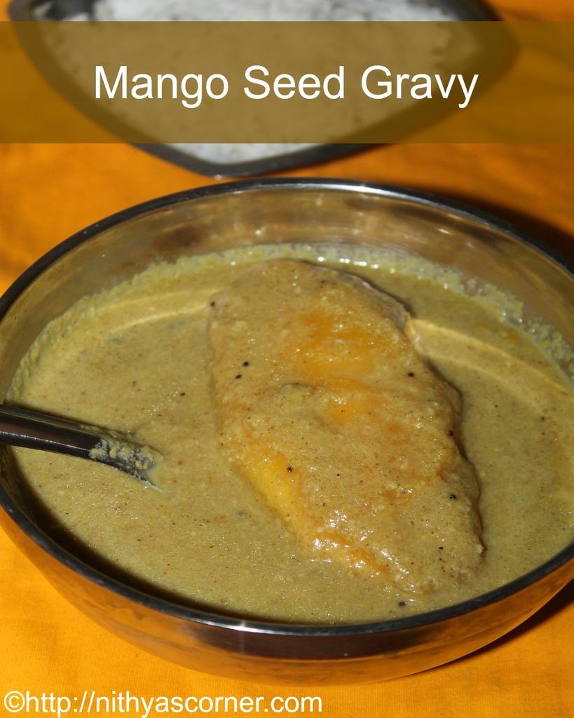 Mangottai Kuzhambu,Mango Seed Gravy, Mango Seed Kuzhambu