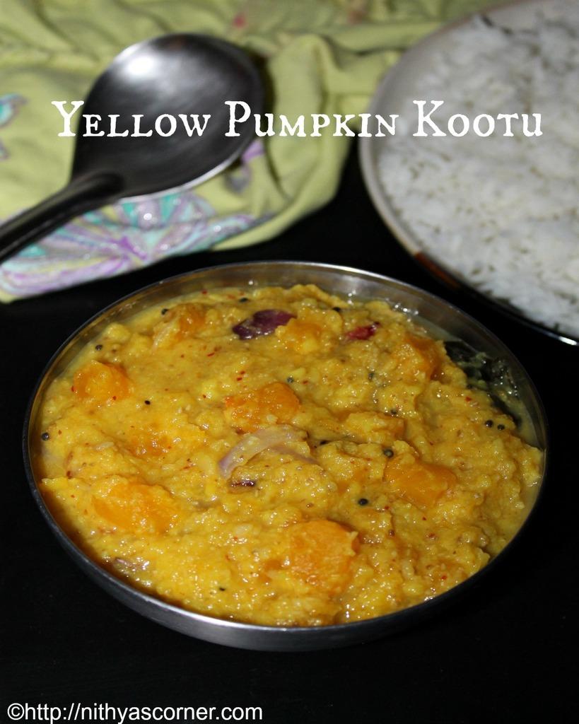Manjal Poosanikai Kootu, Parangikai Kootu, Yellow Pumpkin Kootu
