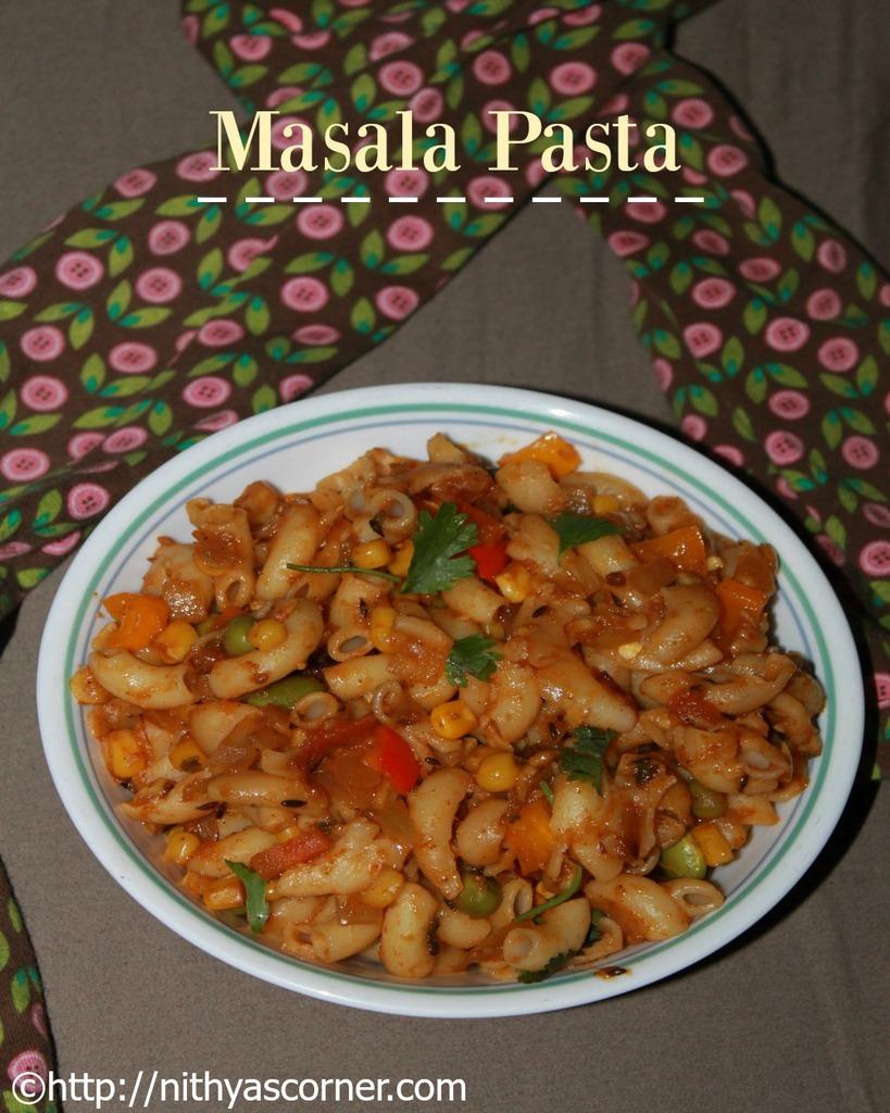 Masala Pasta Recipe, Indian Style Pasta Recipe