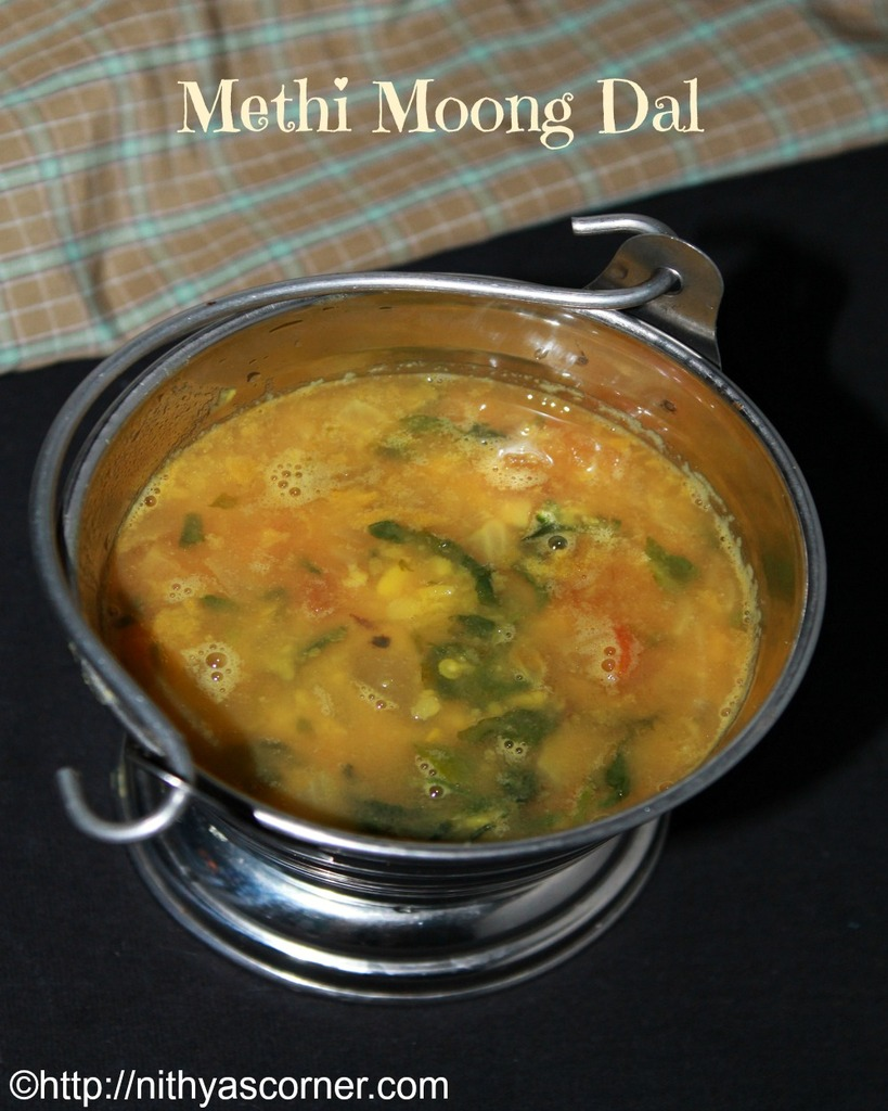 Methi Moong Dal Recipe, Methi Dal