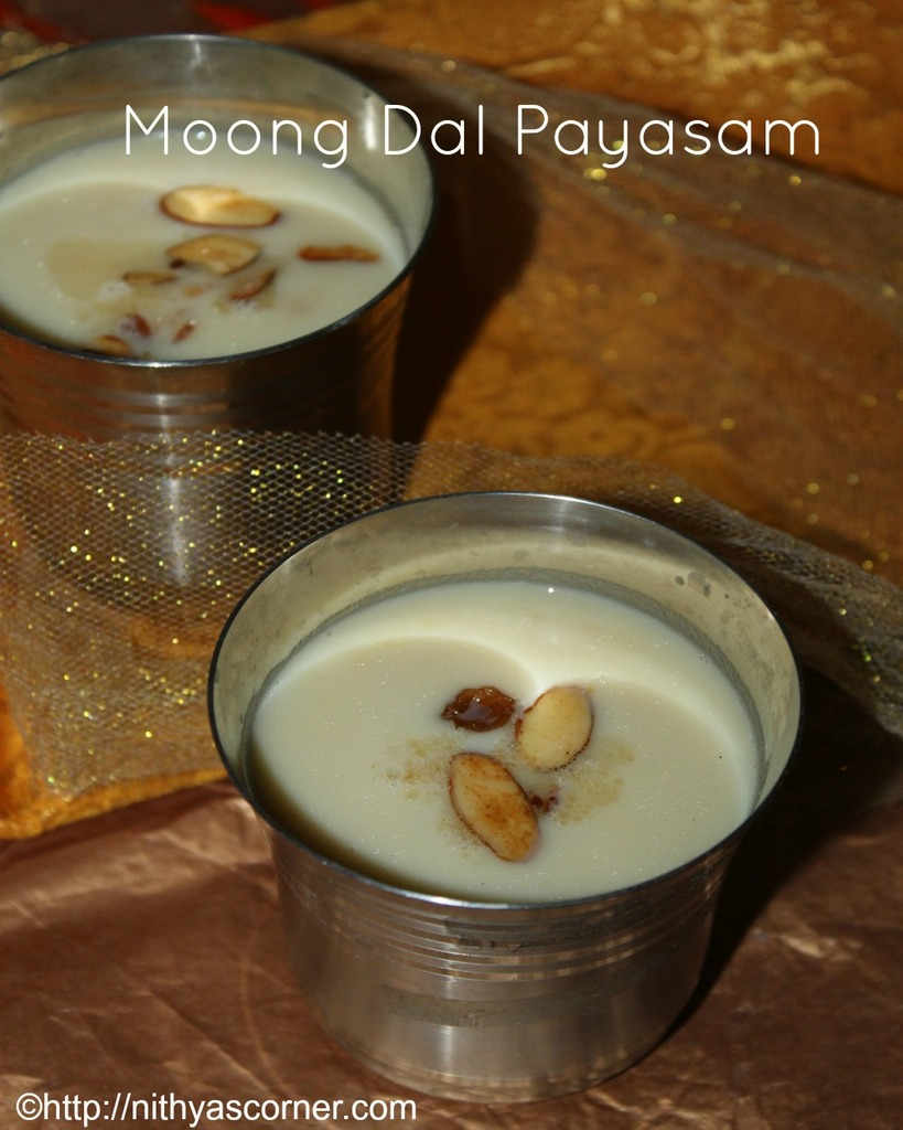 Moong dal kheer recipe with stepwise pictures