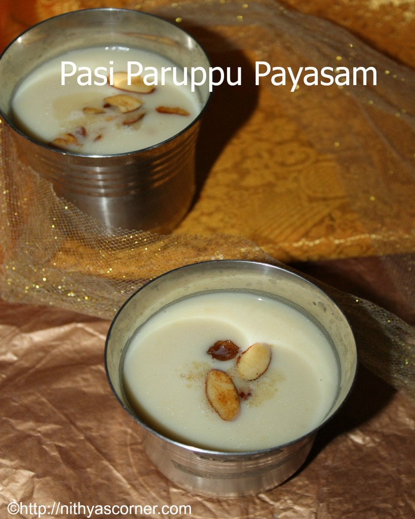 pasi paruppu payasam with stepwise pictures