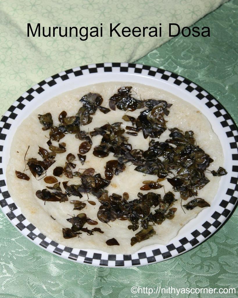 how to make Murungai keerai dosa recipe