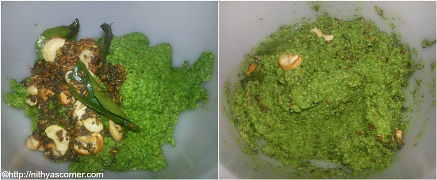 Murungai keerai thogayal, drumstick leaves chutney