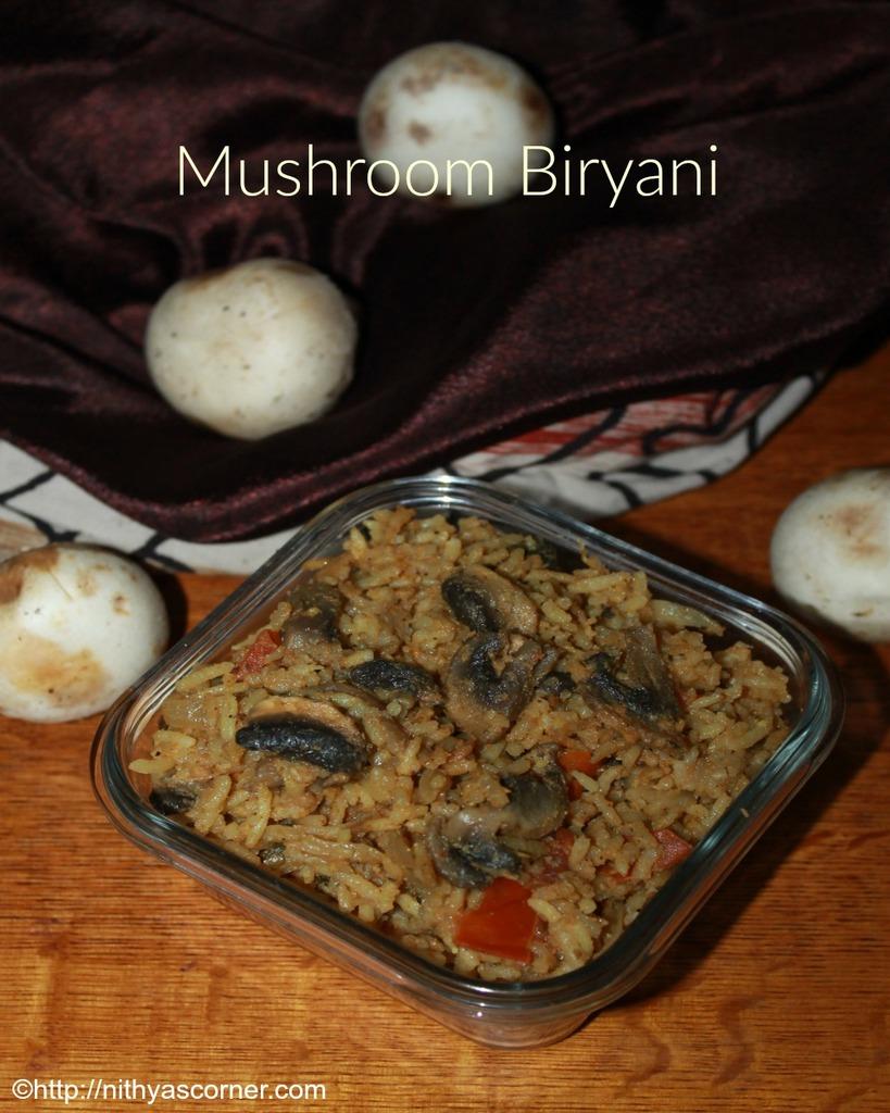 how to make mushroom biryani