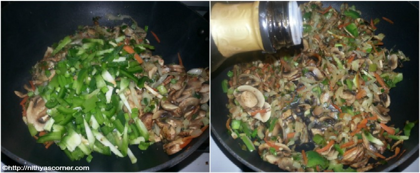 Mushroom fried rice recipe with stepwise pictures