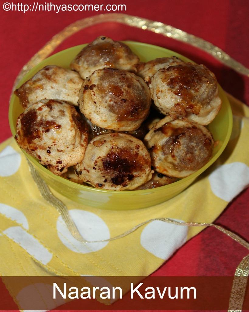 Coconut sweet balls, naaran kavum, pol kavum recipe