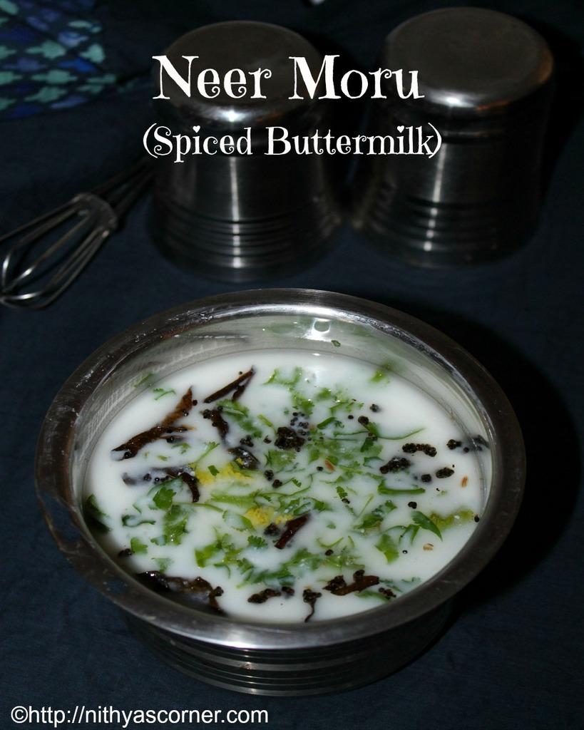 Neer Moru Recipe, Spiced Buttermilk Recipe