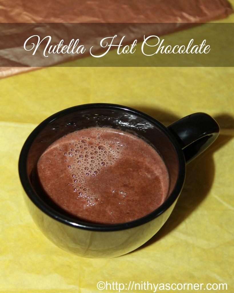 Nutella homemade hot chocolate recipe