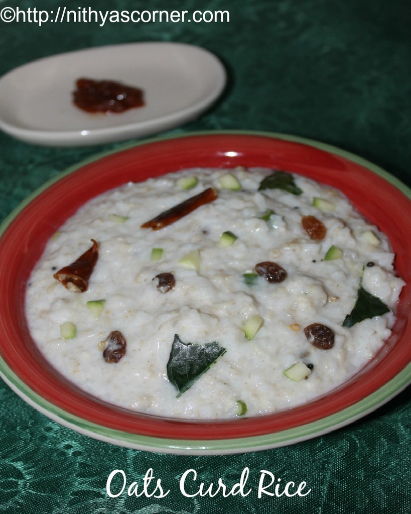 Oats curd rice