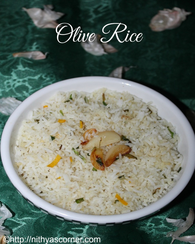 Olive rice recipe