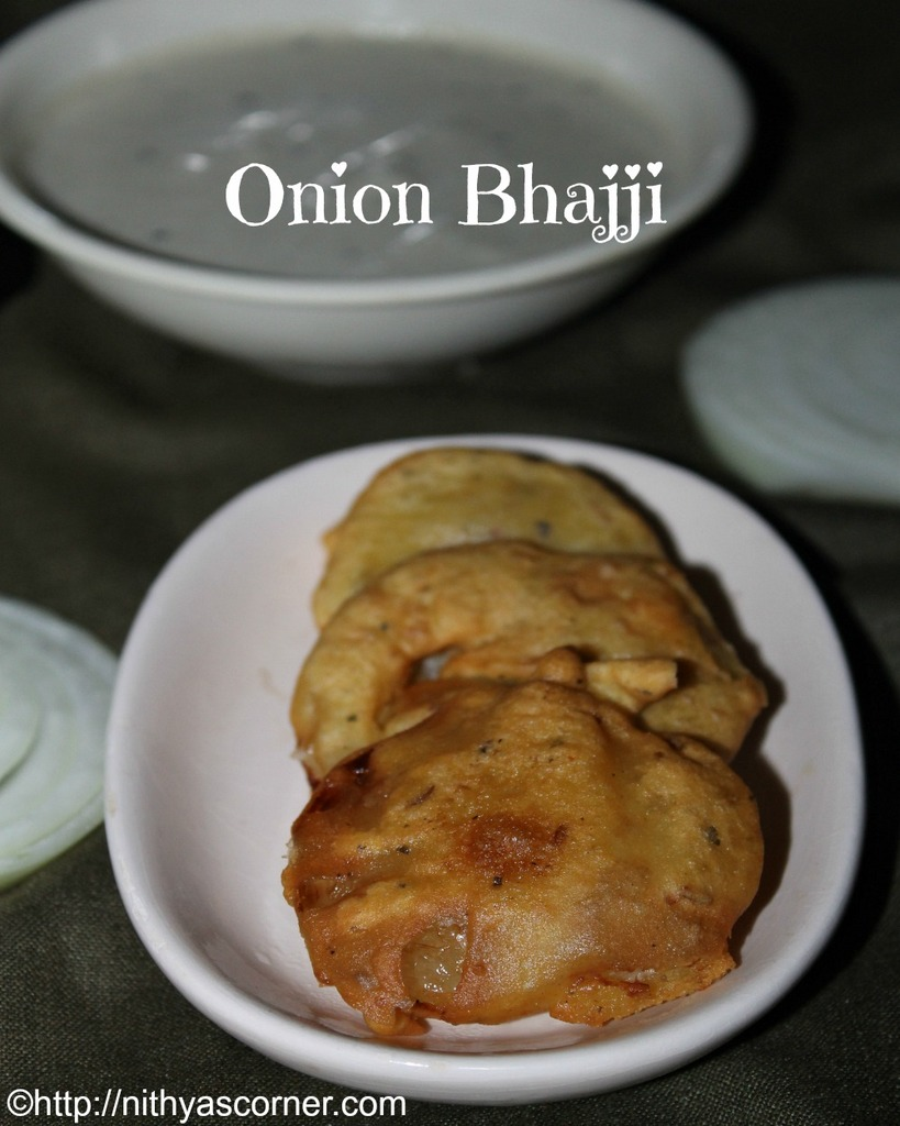 how to prepare onion bajji