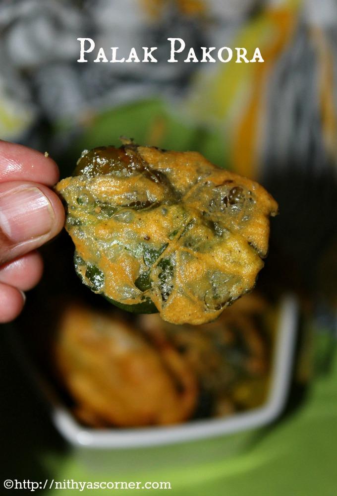 Palak pakora recipe, Spinach fritters, Palak pakoda