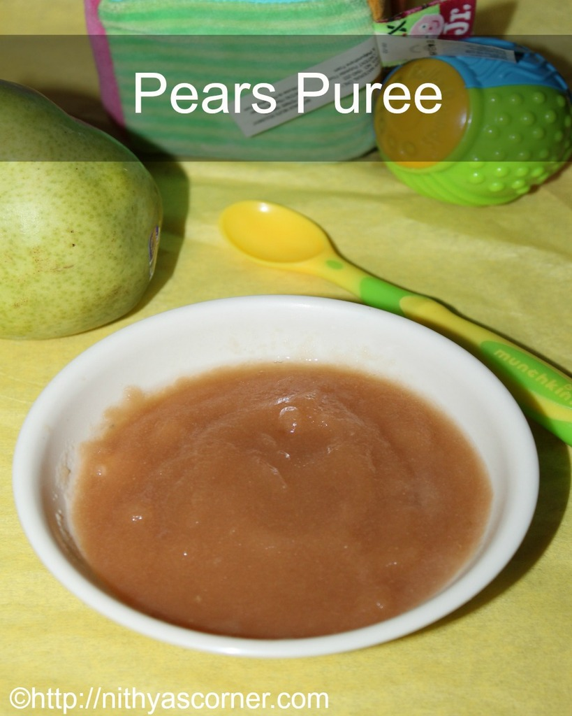 how to make pear puree for babies