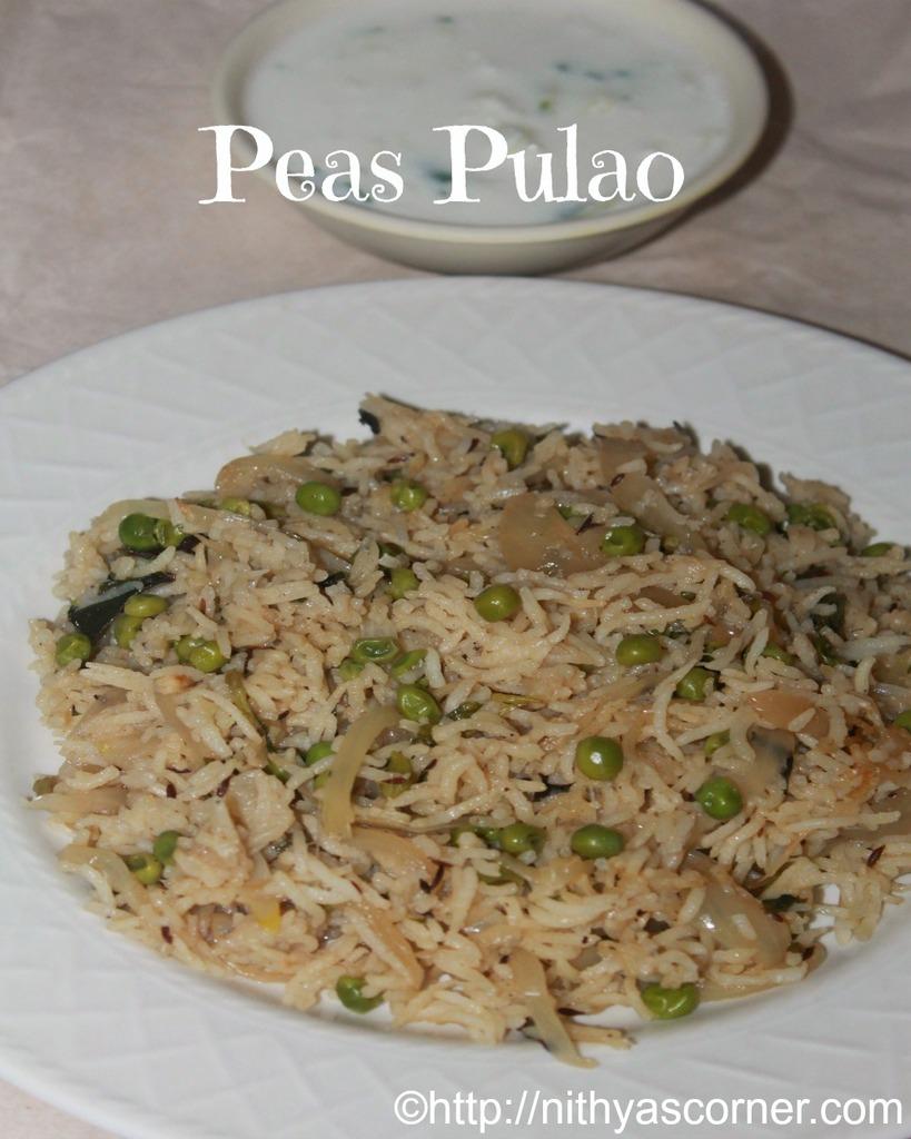 Peas Pulao Recipe,How to Make Matar Pulao,Easy Green Peas Rice