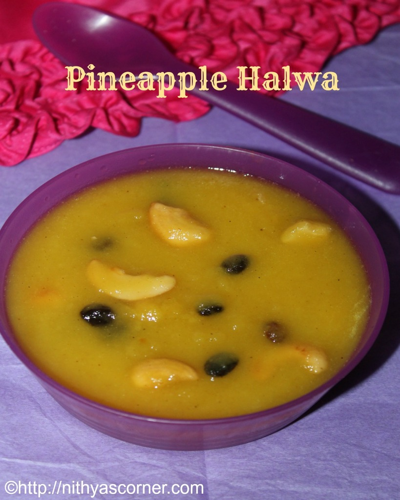 how to prepare pineapple halwa